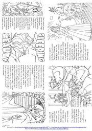 English Worksheet: Sleeping Beauty (Story Mini Book)