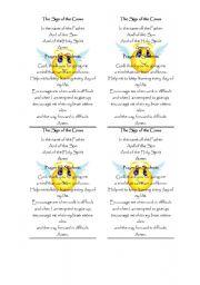 English Worksheets: Prayers