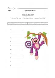 English Worksheets: BODY TERMS