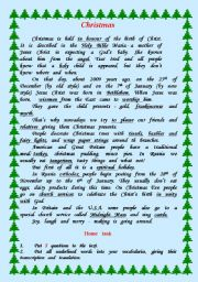 English Worksheets: Chtistmas.