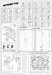 English Worksheet: Alphabet Fun