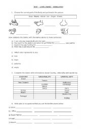 English Worksheets: Simulated