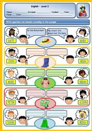 English Worksheet: POSSESSIVE CASE & POSSESSIVE PRONOUNS