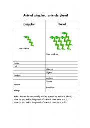 English Worksheets: pluralnoun