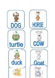 English Worksheets: Animals (1/3)