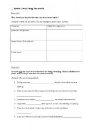 English Worksheet: I, Robot: Adjectives and Adverbs