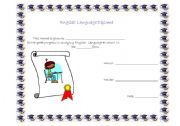 English Worksheet: school diploma