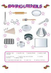 kitchen utensils worksheet for kindergarten cooking utensils matching activity sheet 82 free. Black Bedroom Furniture Sets. Home Design Ideas