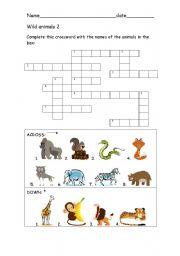 English Worksheets: Wild animals 2