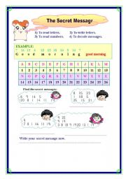 English Worksheets: the secret message