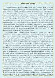 Gulliver´s travels - lesson plan - role play activity