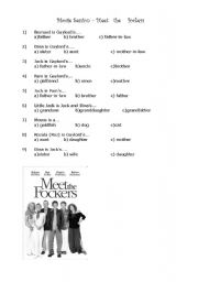 English Worksheets: Movie class - Meet the Fockers (family voc)