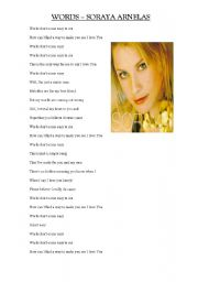 English worksheet: WORDS-SORAYA ARNELAS