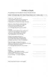 English Worksheets: The Fear - Lilly Allen