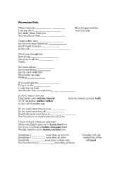 English Worksheet: November Rain lyrics worksheet