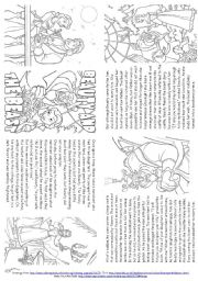 English Worksheet: Beauty And The Beast (Story Mini Book)