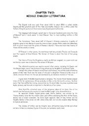 English Worksheets: Chapter two sumary