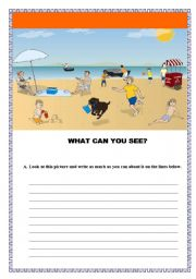English Worksheets: WRITING THROUGH PICTURE