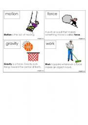English Worksheets: Forces, Motion, Sound