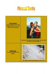 English worksheet: Phrasal verbs - cards [1]