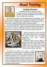 English Worksheets: About Painting - Candido Portinari