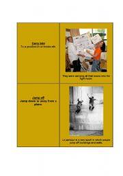 English worksheet: Phrasal verbs - cards [4]