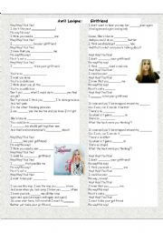 English Worksheets: Girlfriend by Avril Lavigne
