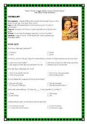 English Worksheets: A Walk To Remember