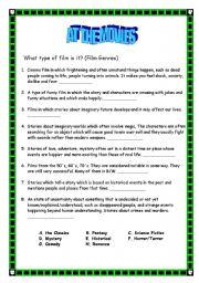 English Worksheets: At the movies (1/4)