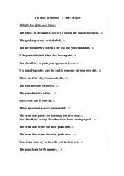 rules of english football true or false esl worksheet by huangjason. Black Bedroom Furniture Sets. Home Design Ideas