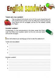 English Worksheets: English sandwiches