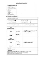 English Worksheets: Lesson plna!