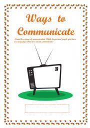 English Worksheets: Ways to communicate
