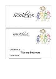 English worksheet: Mothers day vouchers