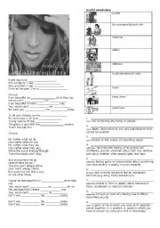 English Worksheet: Christina Aguilera �Beautiful�