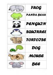 English worksheet: ANIMALS - DOMINOES PART 2