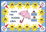 English Worksheet: WHAT�S THE WEATHER LIKE? - BOARD GAME (PART 1)