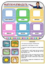 English Worksheet: WHAT�S THE WEATHER LIKE? - BOARD GAME (PART 3)