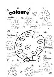 Colours - ESL worksheet by valleygirl