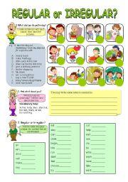 English Worksheet: Past simple tense - regular or irregular?