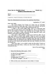 English Worksheets: Letter Parts