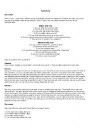 English Worksheets: Addiction