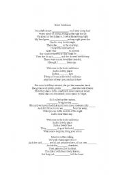 English Worksheet: Hotel California lyrics