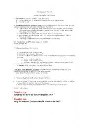 English Worksheets: the dove and the ant