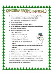 Christmas Around The World Worksheets.Christmas Around The World Esl Worksheet By Sophie100