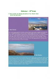 English worksheet: Two Exotic Islands