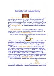 English Worksheets: Tom and Jerry