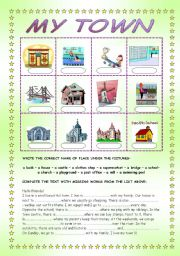 my town places in a town esl worksheet by ania z. Black Bedroom Furniture Sets. Home Design Ideas