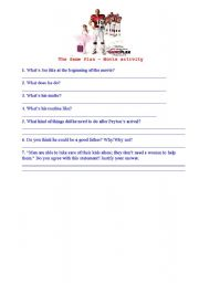 English Worksheets: The game plan - movie activity