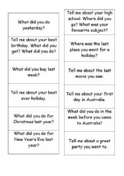 English Worksheets: Past Questions